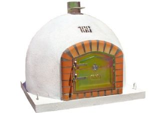 Traditional Handmade Brick Wood Fired Oven 100cm model with Central Chimney Mount